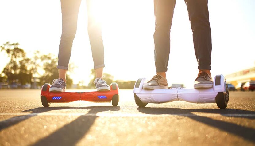 people riding hoverboards