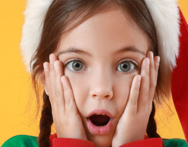 shocked Christmas child